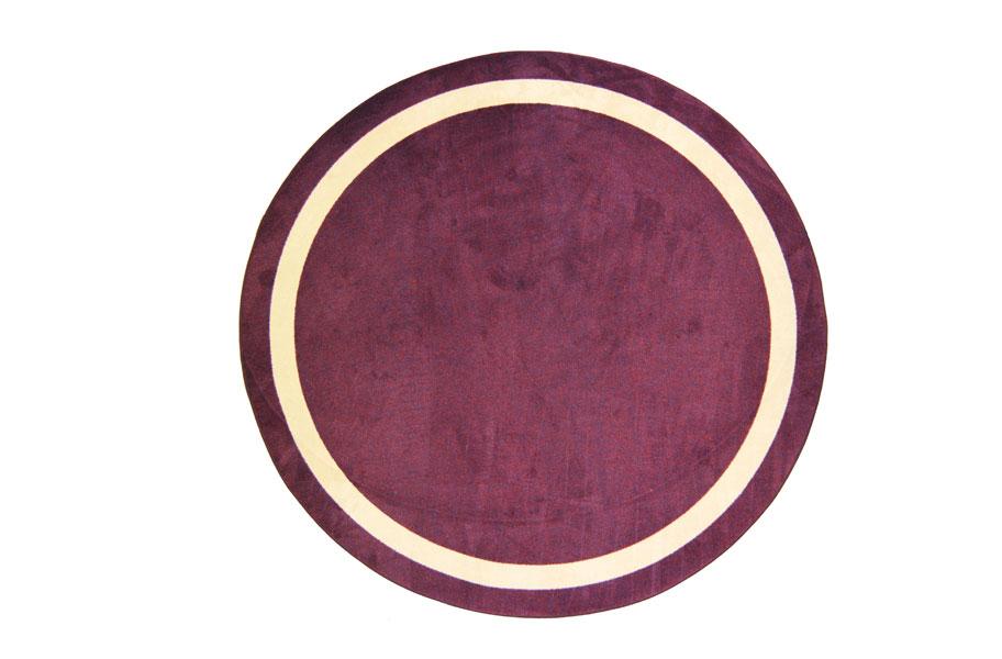 purple round area rug