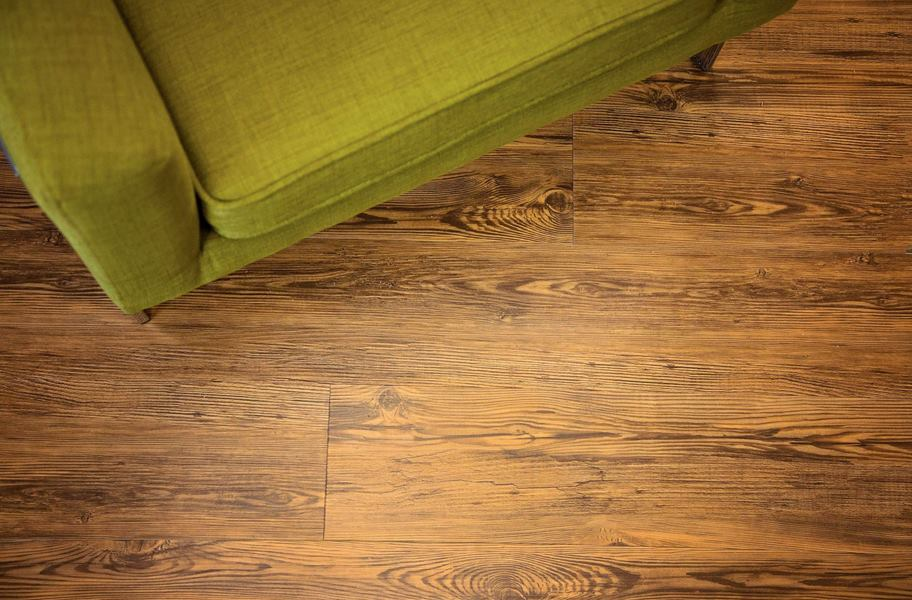 honey colored waterproof vinyl plank flooring