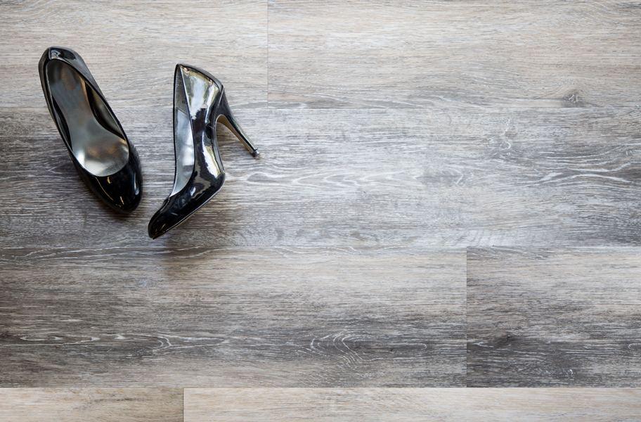 gray waterproof vinyl plank flooring