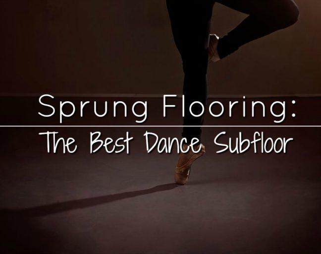 dance sprung subflooring