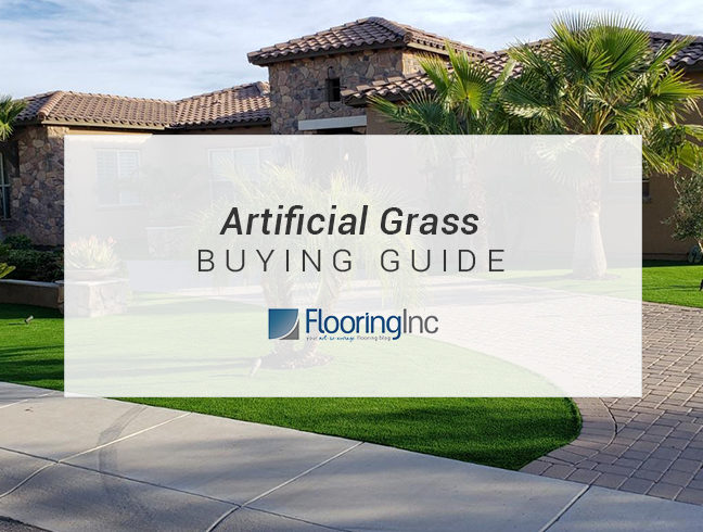 FlooringInc Artificial Grass Buying Guide in front of landscape