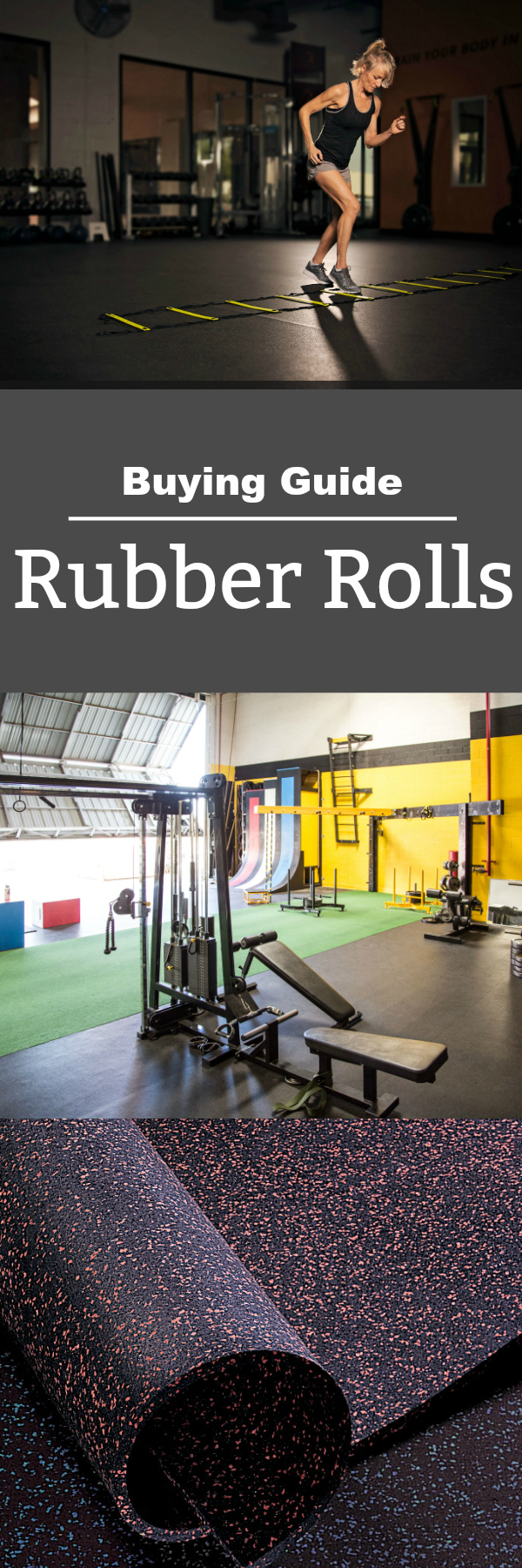 Rubber Flooring Rolls Buying Guide: Learn everything you need to know when you purchase rubber rolls from durability to application to color and design.