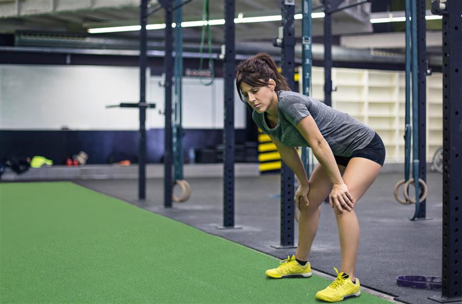 Fitness turf in a commercial gym setting
