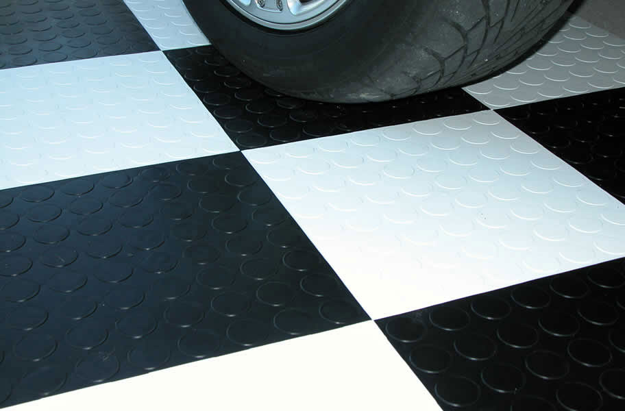 coin grid-loc tiles in black and white