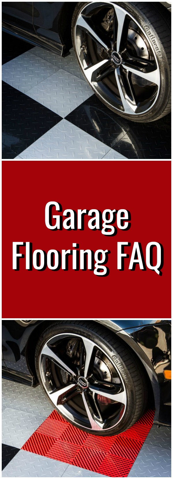 red and white garage flooring pinterest
