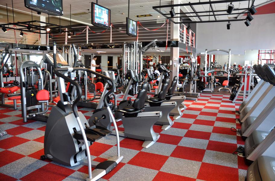 gym carpet install