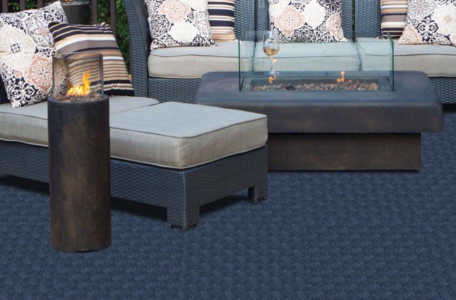 blue outdoor carpet tiles