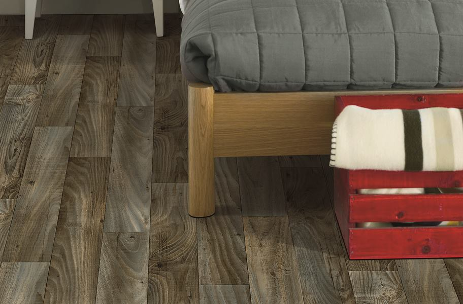 sheet vinyl flooring rustic