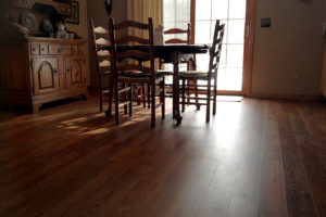 "COREtec 5"" Waterproof Vinyl Planks in dining room"