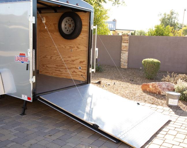 Trailer Flooring Guide: diamond nitro rolls in an enclosed trailer