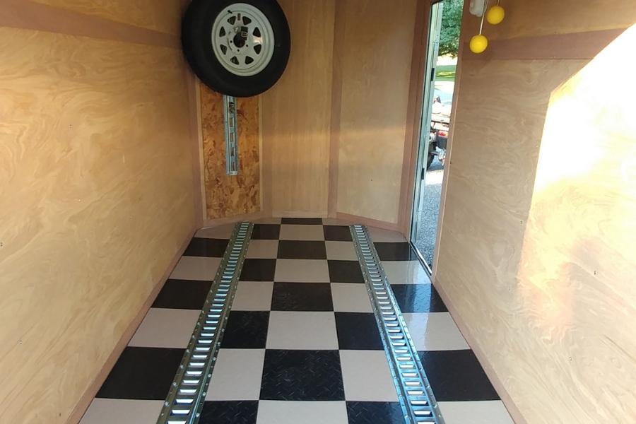 FlooringInc Nitro Tiles installed as trailer flooring