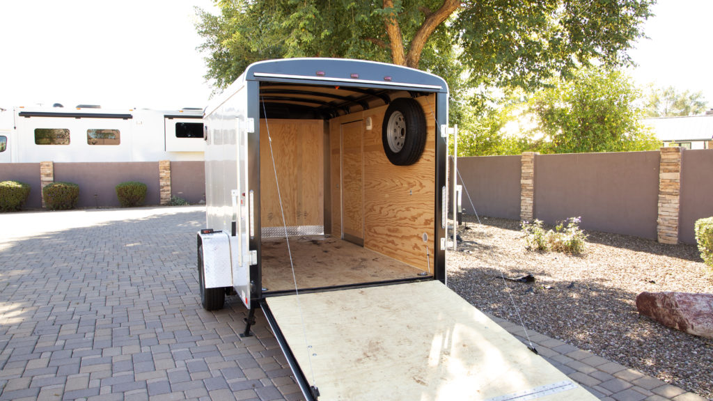 FlooringInc Diamond Nitro Rolls installed as trailer flooring