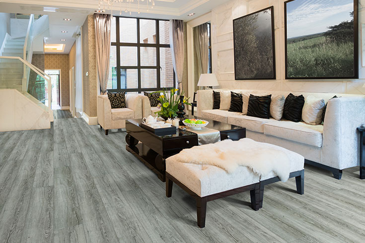 Flooring Inc 2019 Vinyl Flooring Trends -vinyl flooring in living room setting