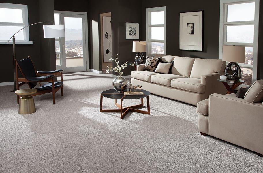Carpet Padding Guide: broadloom carpet in a living room setting