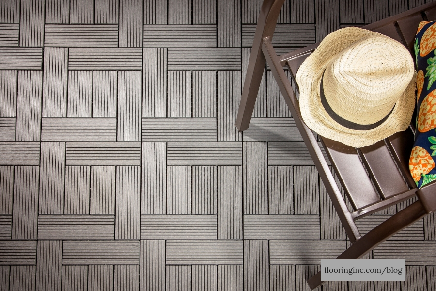 Helios Deck Tiles with a chair and hat