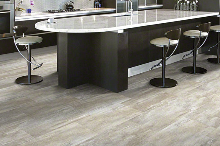 Flooring Inc 2019 Kitchen Flooring Trends - vinyl flooring in kitchen setting