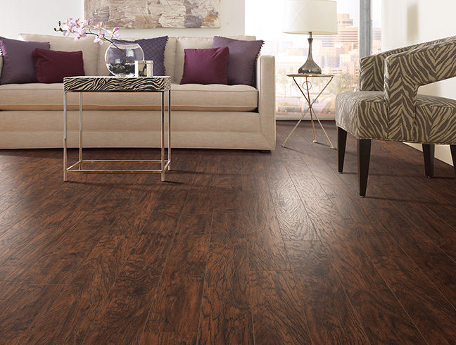 Flooring Inc 2019 Laminate Flooring Trends - laminate flooring in living room setting