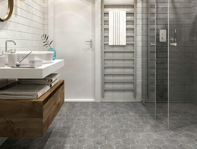 Flooring Inc 2020 Tile Flooring Trends - tile in bathroom setting