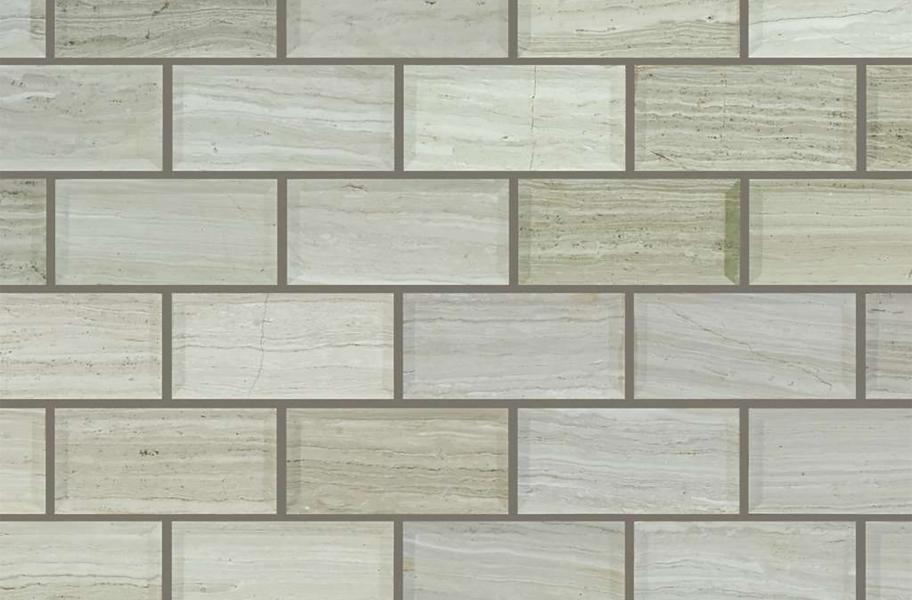 Bathroom Flooring Trends- Subway tile layout