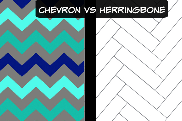 Chevron vs. herringbone flooring patterns compared