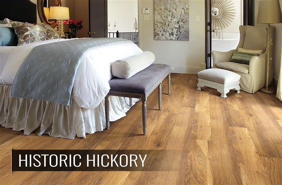 Shaw laminate flooring in honey color