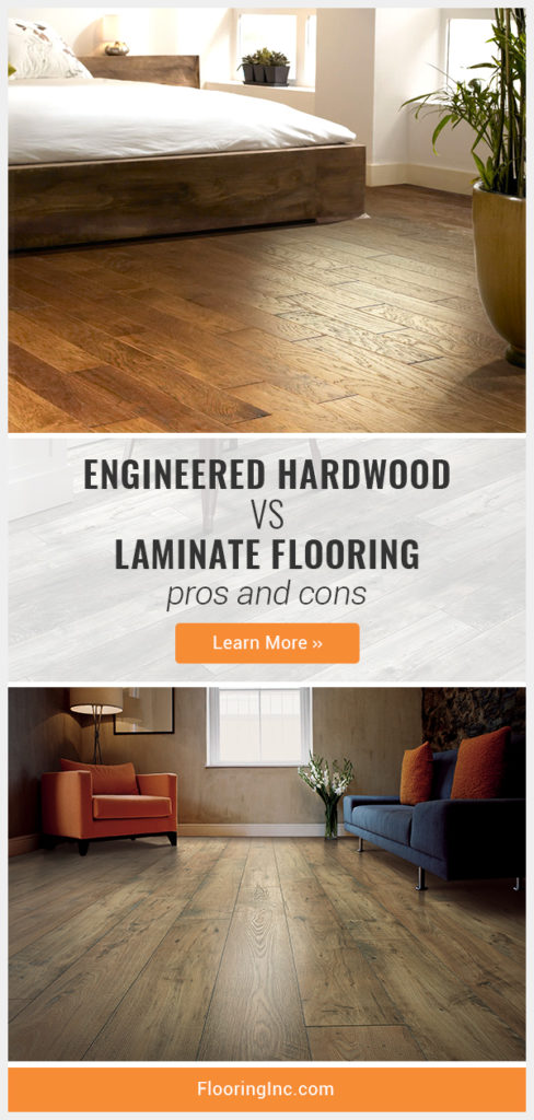 Not sure whether to go with engineered hardwood vs. laminate flooring for your home remodel? Here's everything you need to know to make your decision. #flooringinc #flooringideas #homedesign #laminateflooring #woodlook