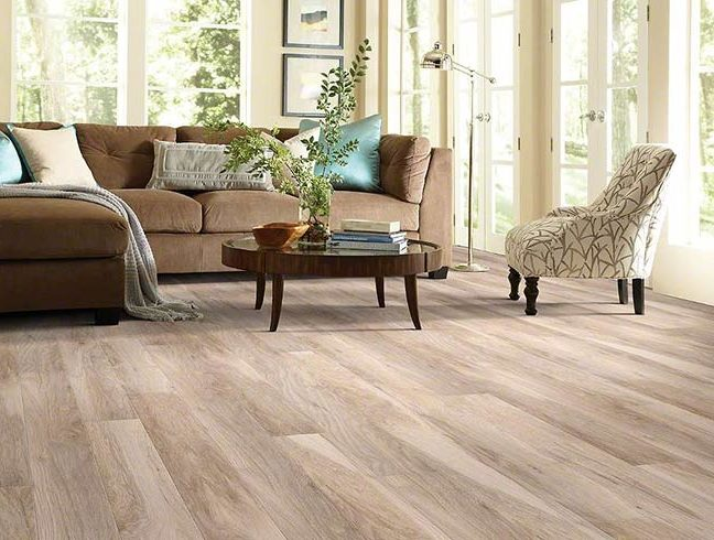 FlooringInc laminate flooring in living room setup