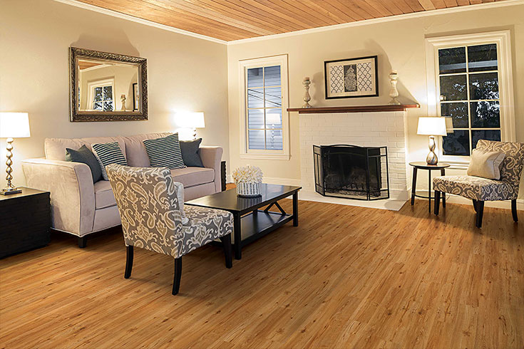 pine vinyl flooring in living room