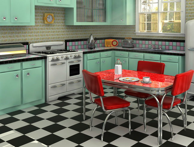 Flooring Inc Linoleum vs Vinyl Flooring kitchen setting