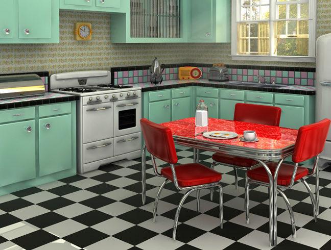 Flooring Inc Linoleum vs Vinyl Flooring kitchen setting