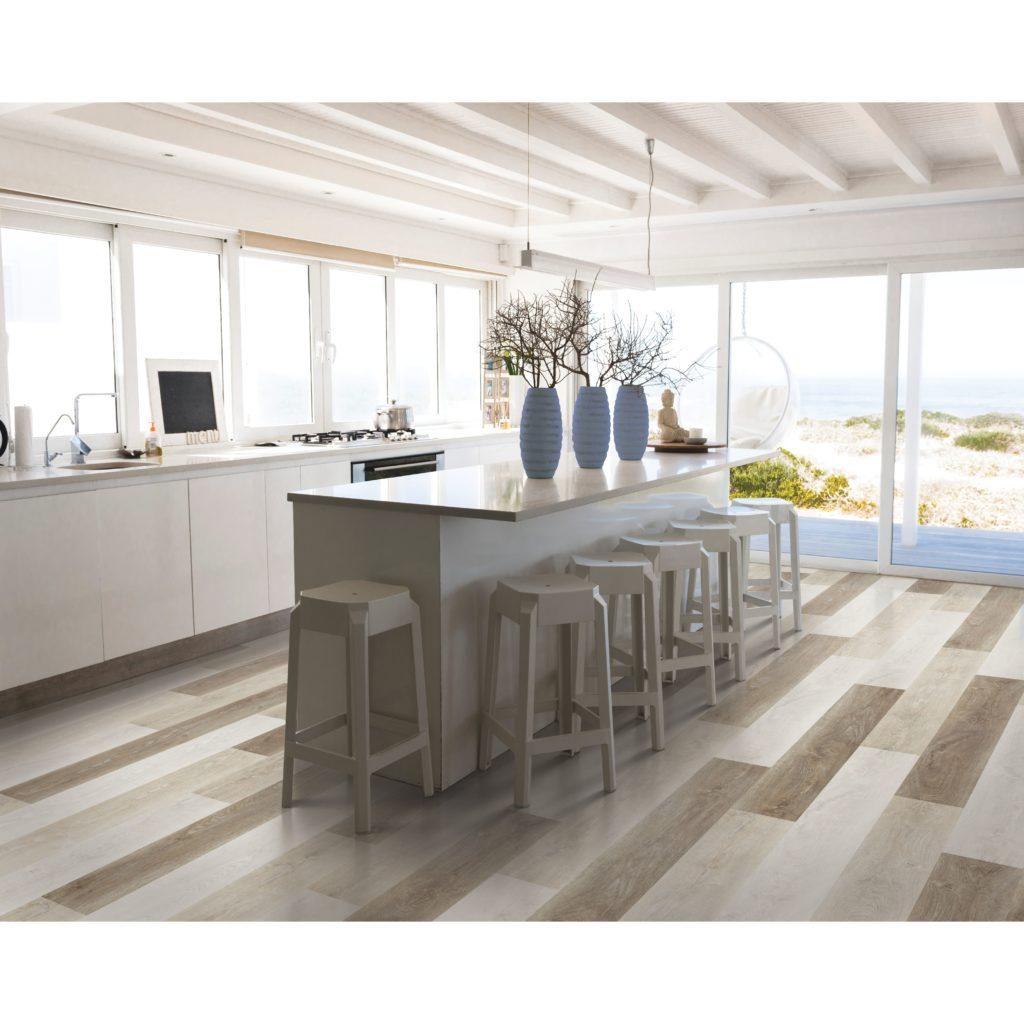 Flooring Inc Mohawks Variation Vinyl Planks in kitchen setting