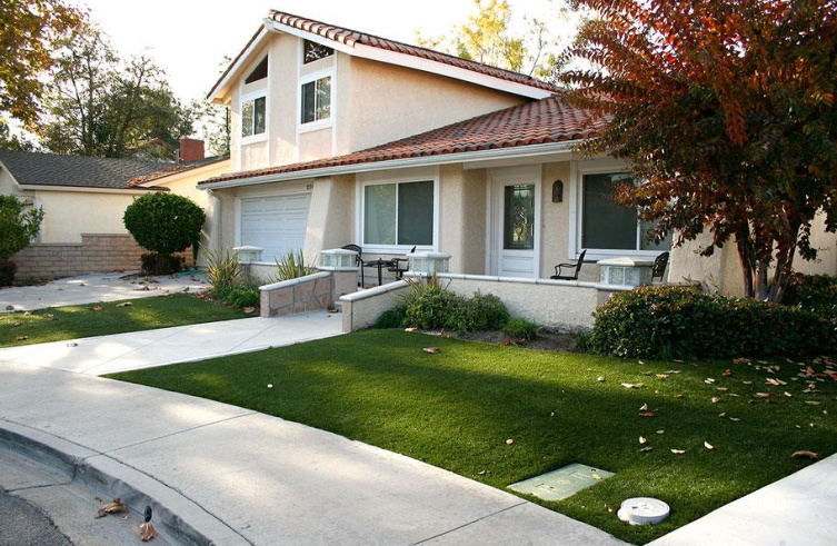 a beautiful lawn and home