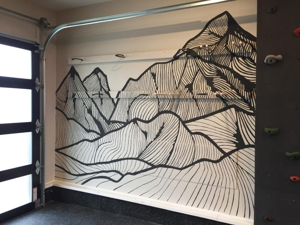 bouldering wall in garage