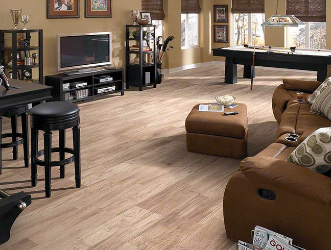 laminate flooring in living room setting