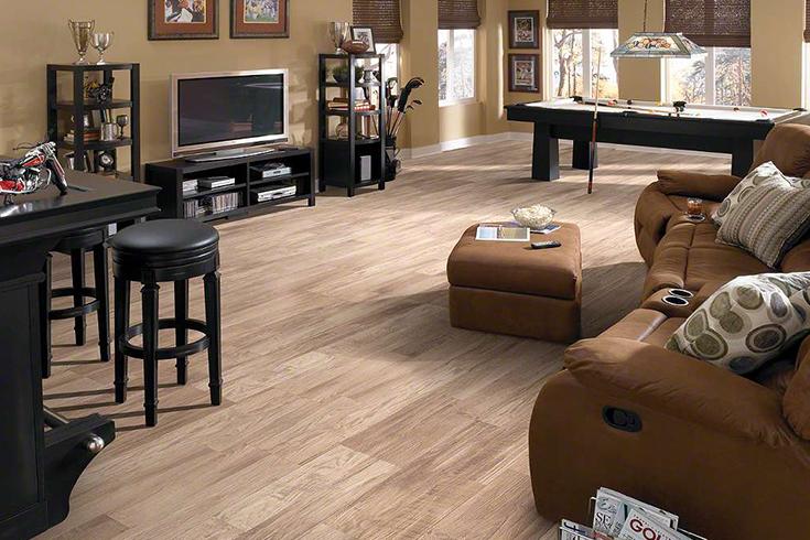 laminate flooring in living room setting