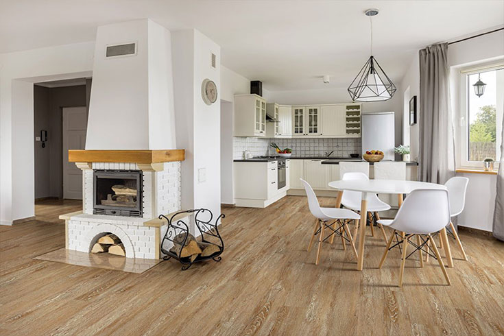 Flooring Inc vinyl flooring in kitchen setting