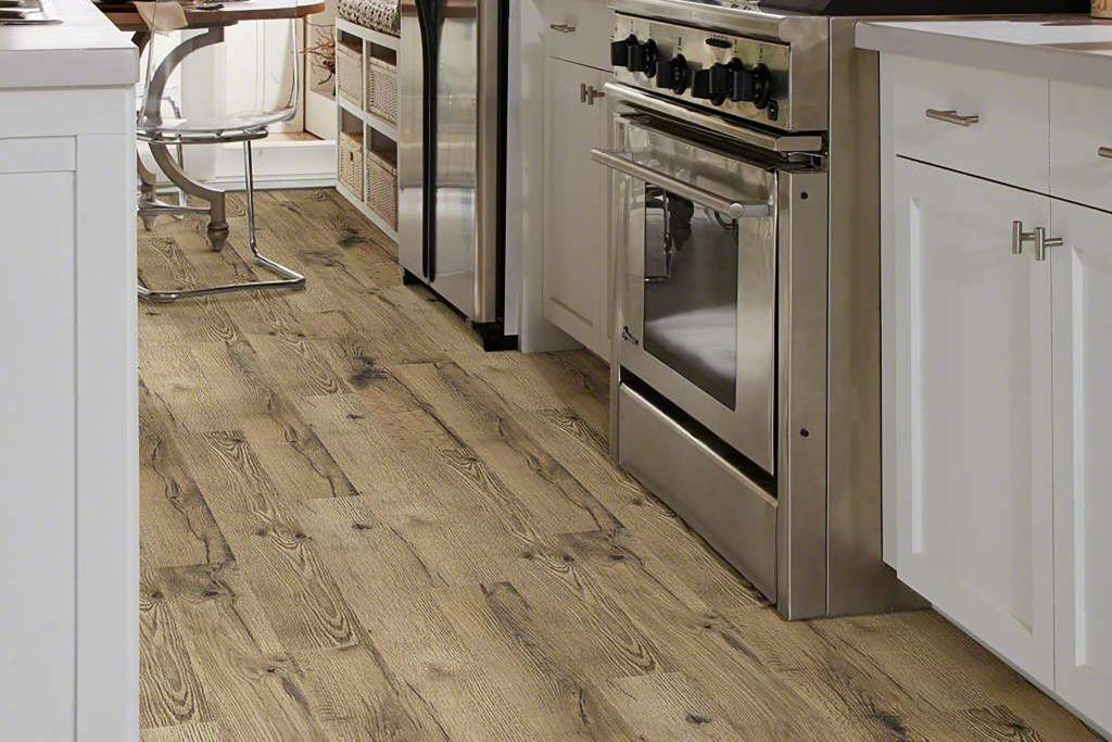 Shaw Gold Coast Laminate floor in kitchen setting