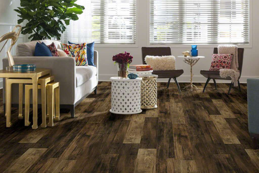 Shaw Pier Park Laminate in living room setting