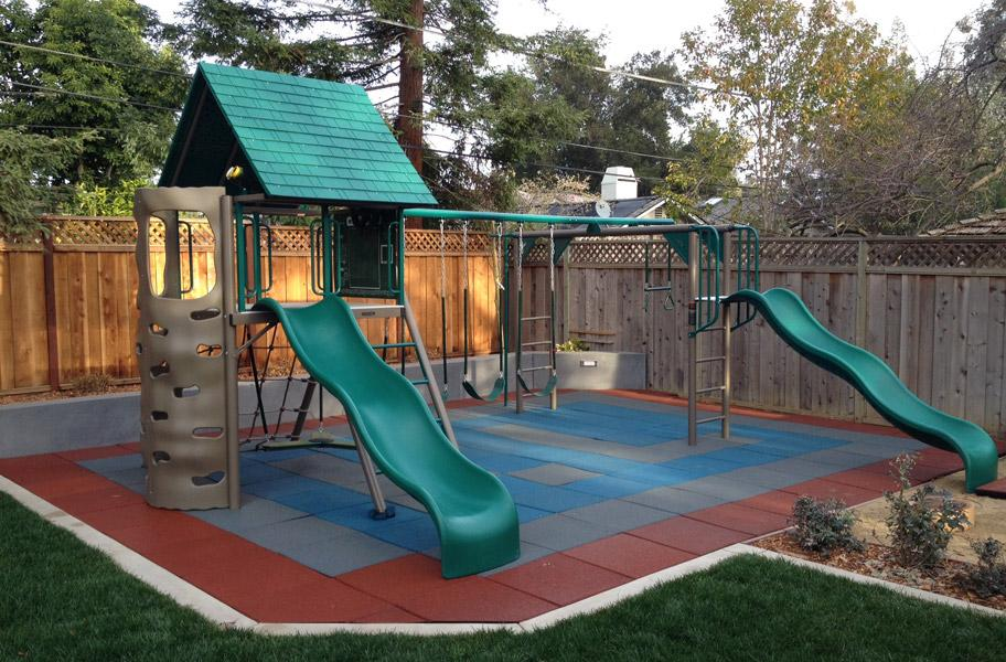 Flooring Inc Safe-Play Tiles in playground setting