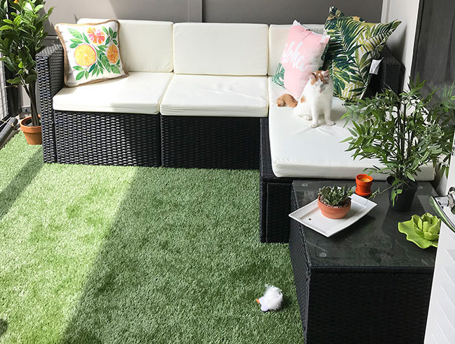 Flooring Inc Newport Premium Turf Rolls on patio