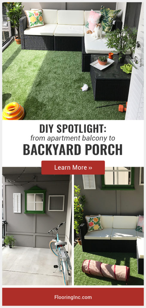 Want to make your apartment feel more like home? Learn how this customer used turf to transform her balcony into a relaxing porch.