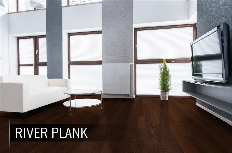 Flooring Inc engineered hardwood flooring in living room setting