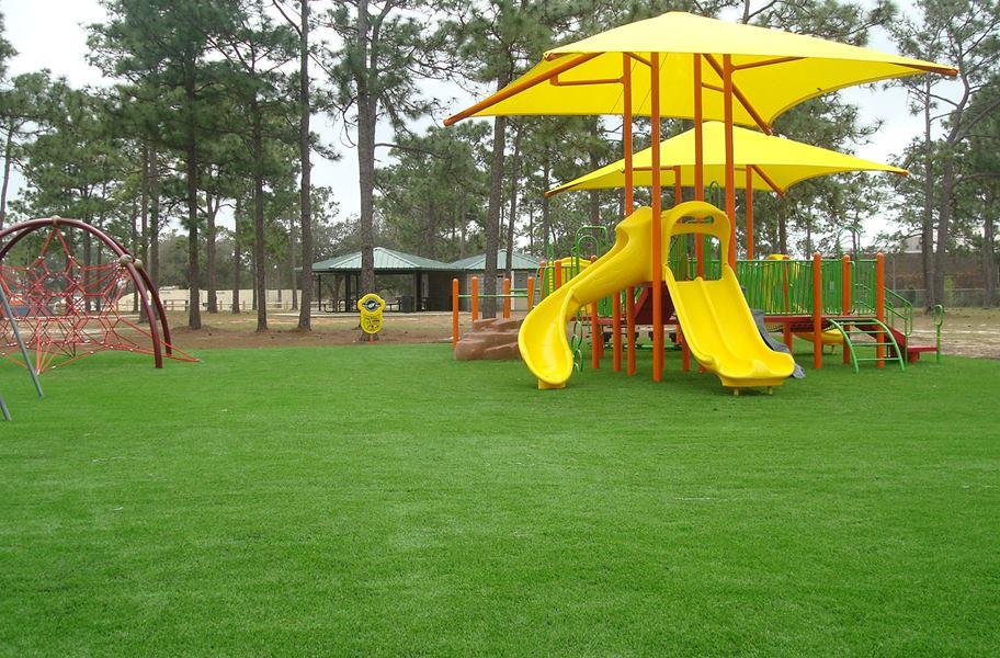 playground structure on playground turf