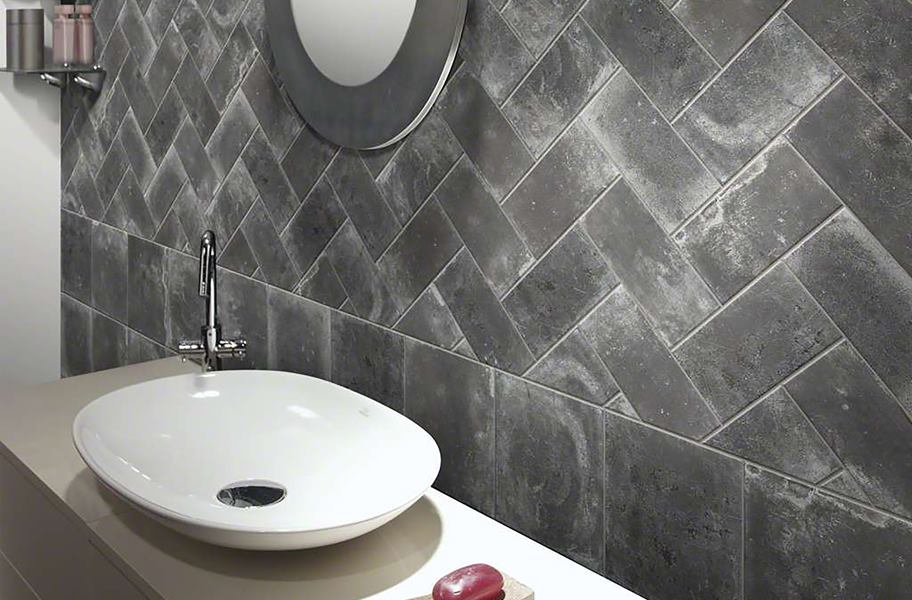 Tile backsplash trends: gray subway backsplash tile