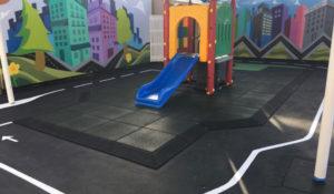customer photo- black playground tiles