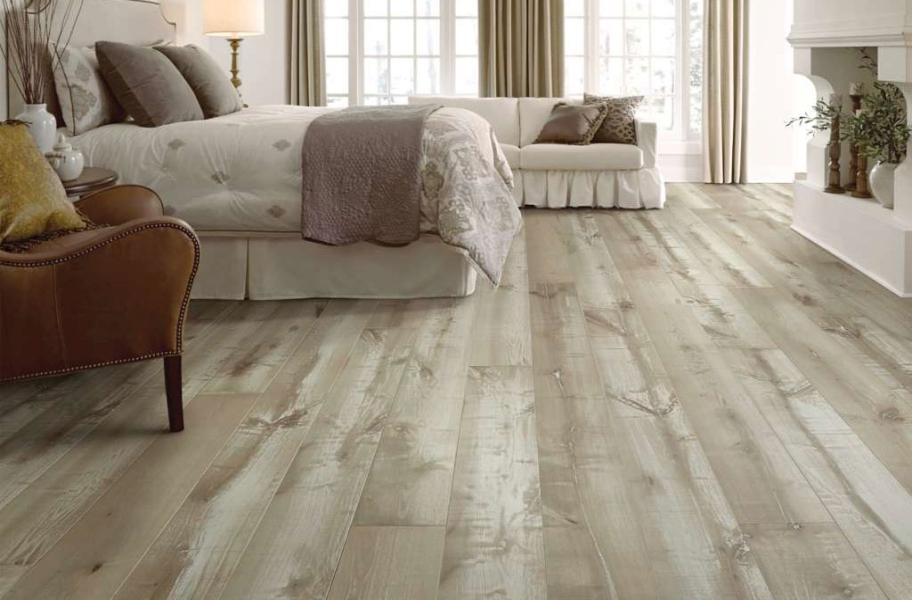 Fumed or Smoked Wood Floors in a bedroom