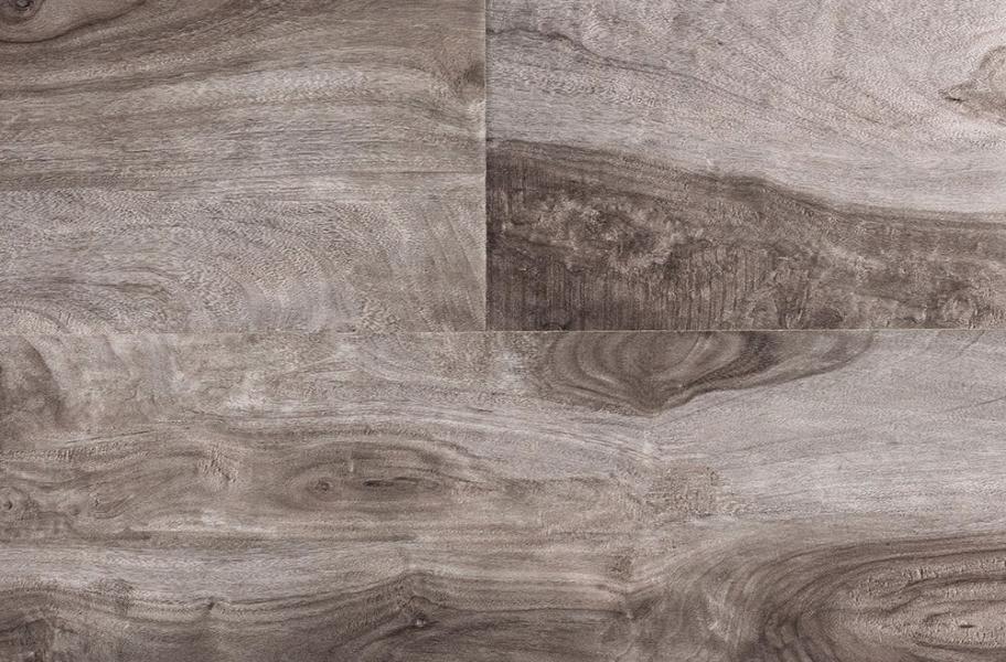 Greige wood-look flooring: 12mm Bel-Air Windwood Laminate Flooring