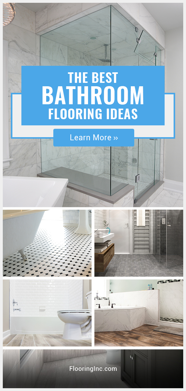 The Best Bathroom Flooring Ideas for a waterproof, worry-free life.