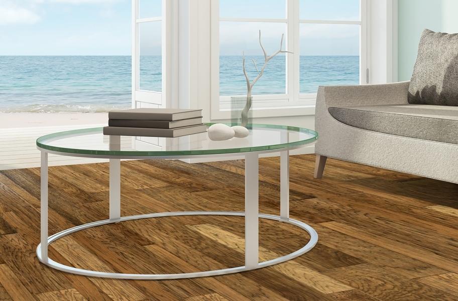 FlooringInc 2020 wood flooring trends: engineered hardwood in a living room
