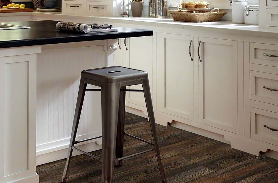 waterproof vinyl plank flooring in a kitchen setting